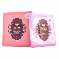 Гидрогелевая маска с розовым маслом и рубиновой пудрой
